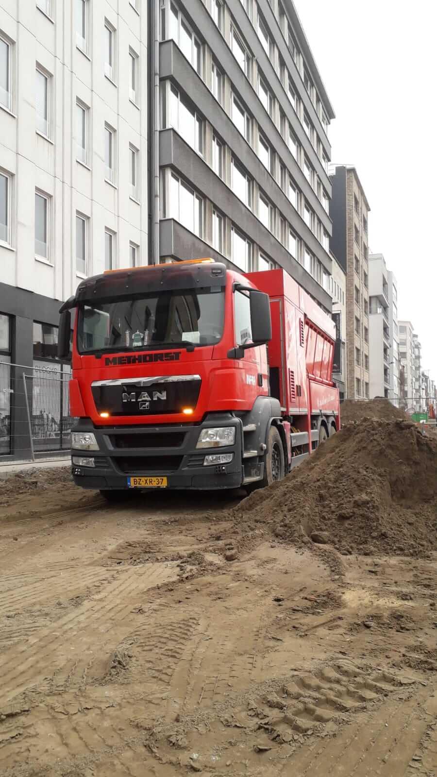 Grondzuigwagen Antwerpen