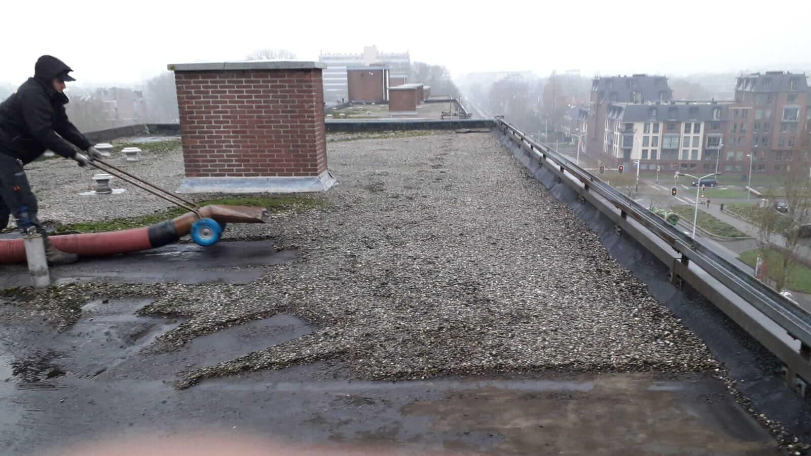 dakgrind verwijderen