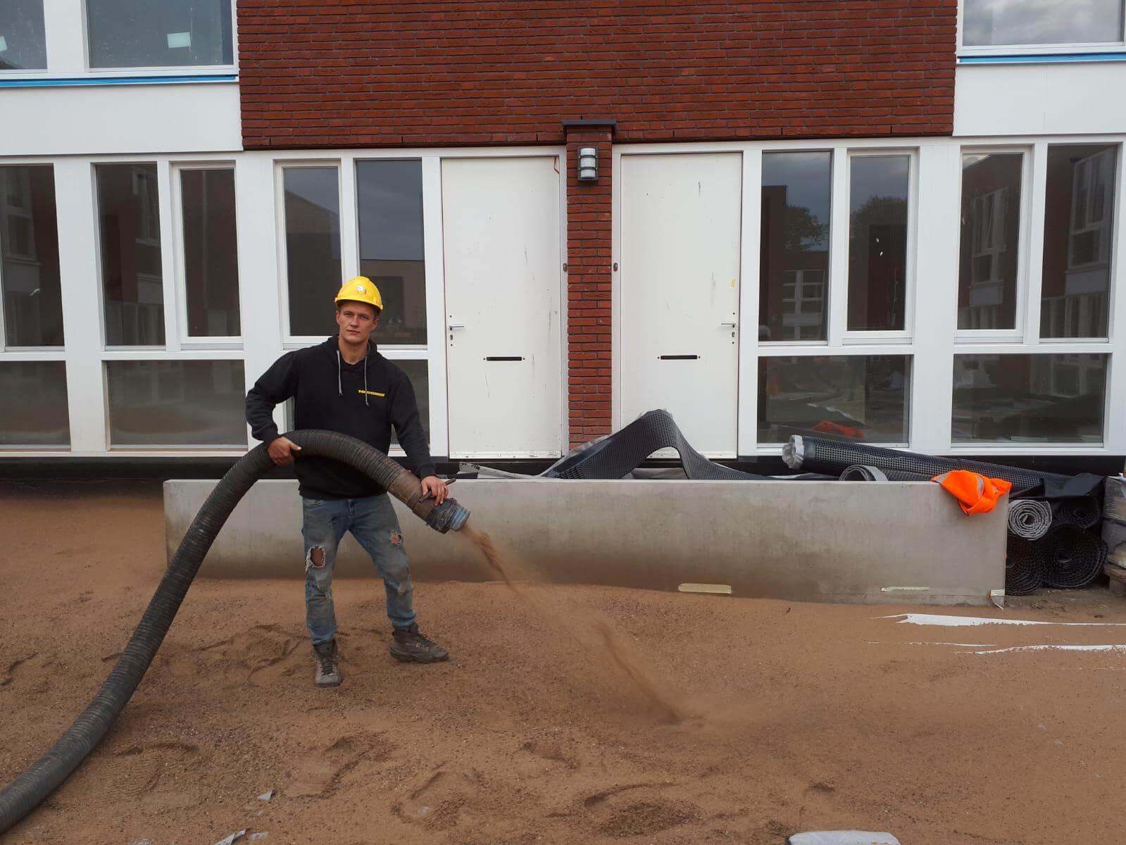 grondverzakking nieuw zand aanbrengen